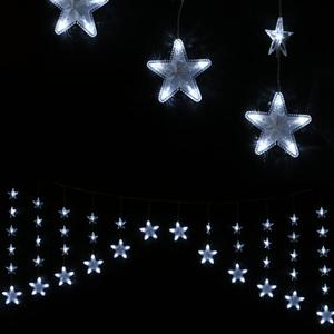 Cortina Estrelas 136 luzes de Natal Led Branco Frio, 460 cm