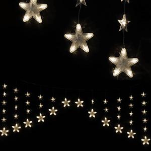 Cortina Estrelas 136 luzes de Natal Led Branco Quente, 20 mt