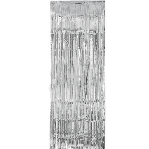 Cortina Prateada Metalizada 91*244cm