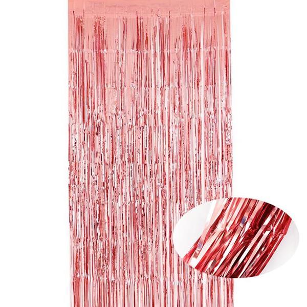 Cortina Rosa Gold Metalizado, 2 x 1 mt