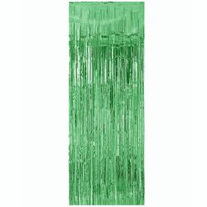Cortina Verde Metalizada, 100 x 240 Cm
