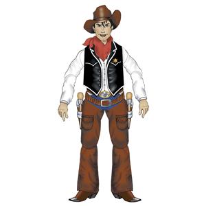 Cowboy Articulado, 140cm