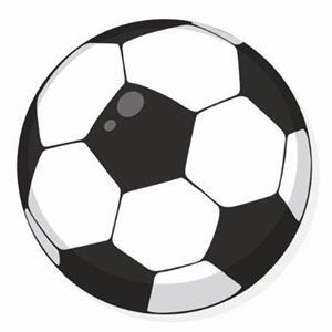 Crachá Bola de futebol, 5 cm