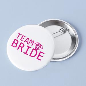 Crachá Team Bride, 3 cm