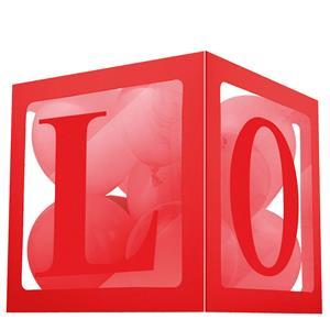Cubo para Balões Love Vermelho