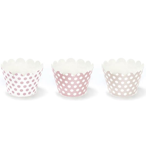 Cupcake Wraps com Bolinhas, 6 unid.