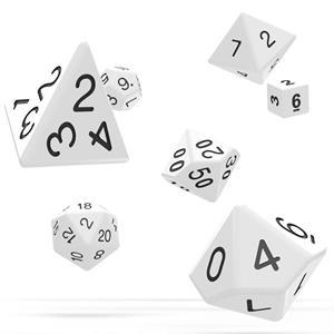 Dados Brancos Várias Formas, 7 unid.