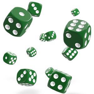 Dados de Jogo Verdes, 36 unid.
