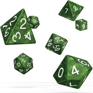Dados Verdes Mármore Várias Formas, 7 unid.