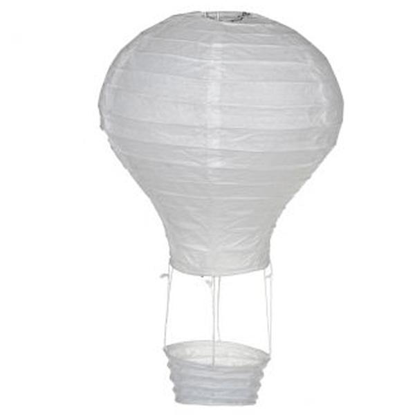 Balão Ar Quente Branco, 20 Cm