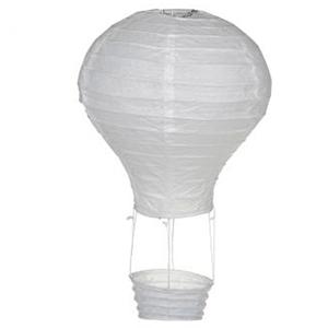 Decoração Casamento - Balão Ar Quente Branco, 20 Cm