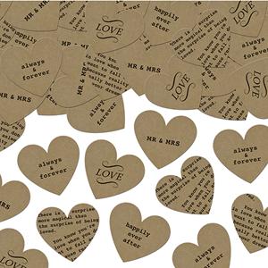Decoração Casamento - Confettis Corações com Dedicatória, 3 gr