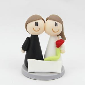 Decoração Casamento - Figura Noivos em Biscuit