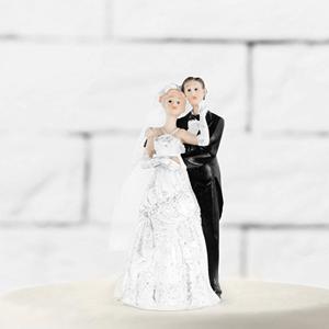 Decoração Casamento - Figura Noivos para Bolo