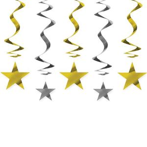 Decoração Estrelas, 5 Unid.