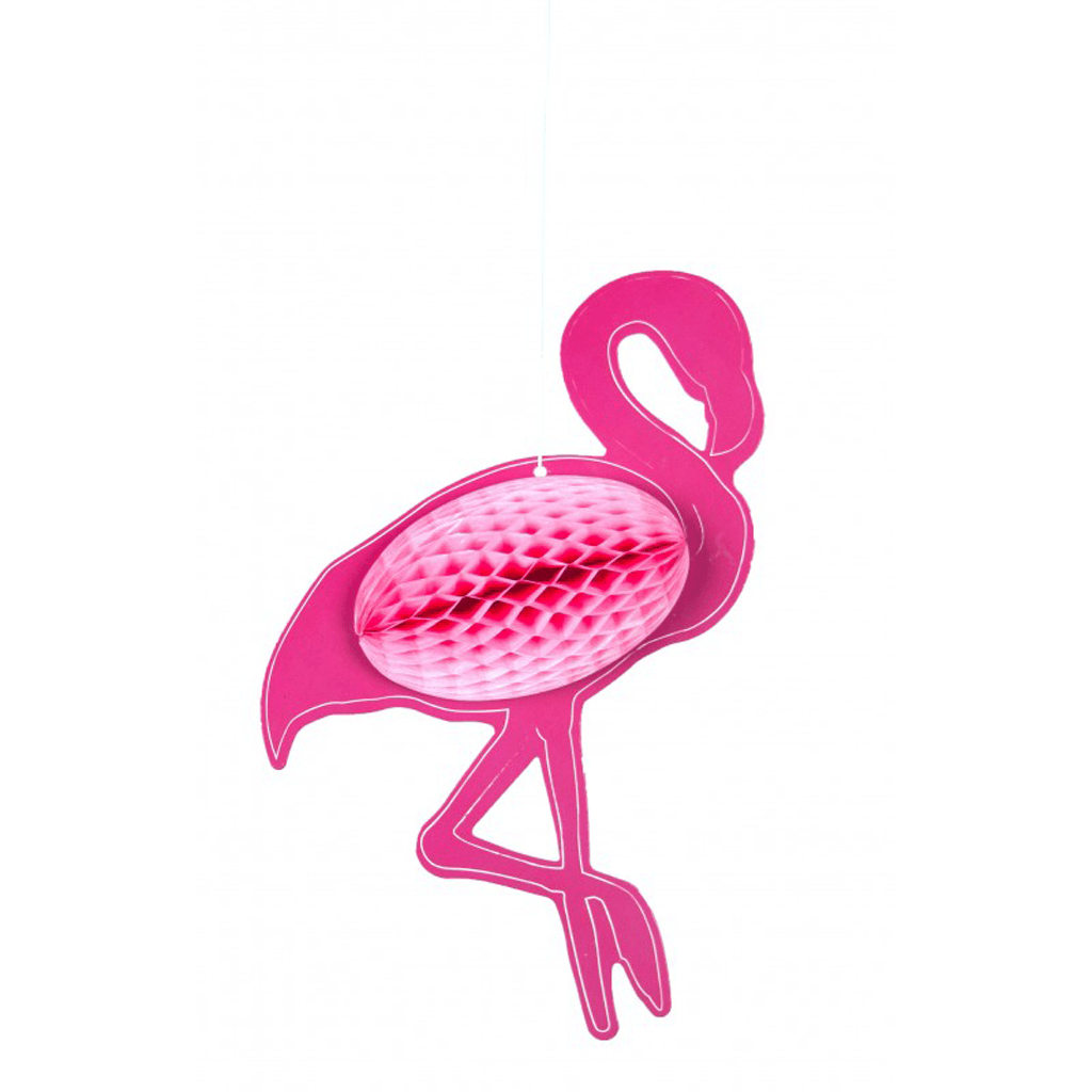 Decoração Flamingo Rosa Papel, 25 Cm