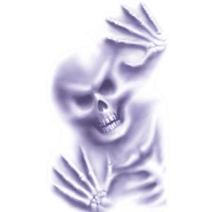 Decoração Halloween Esqueleto Adesivo