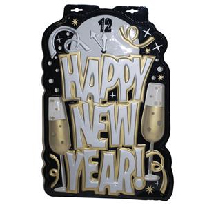 Decoração Happy New Year em Plástico, 53 Cm