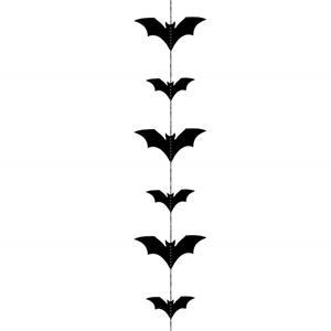 Decoração Suspensa Morcegos Pretos