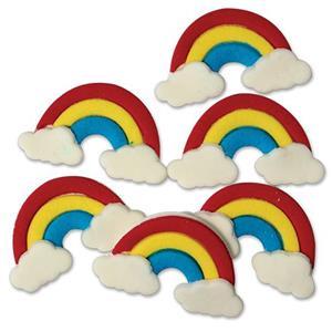 Decorações de Açúcar Arco-Íris, 6 unid.