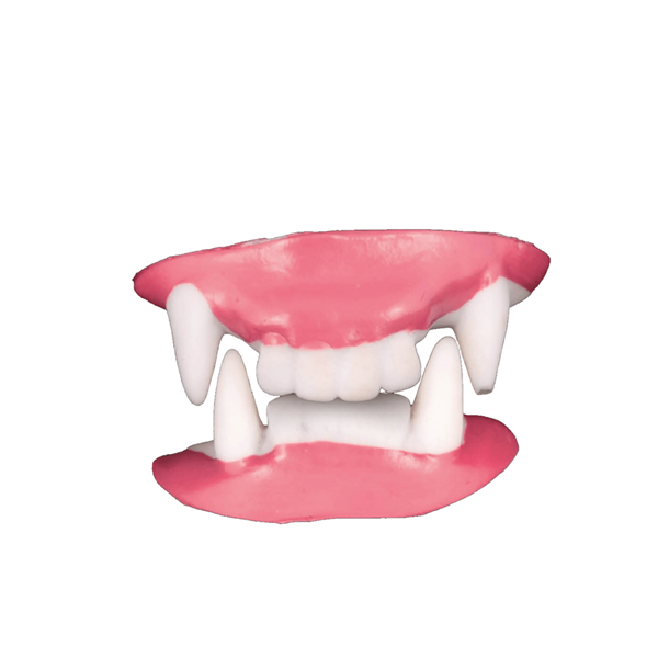 Dentes de Vampiro em Plástico, 2 unid.