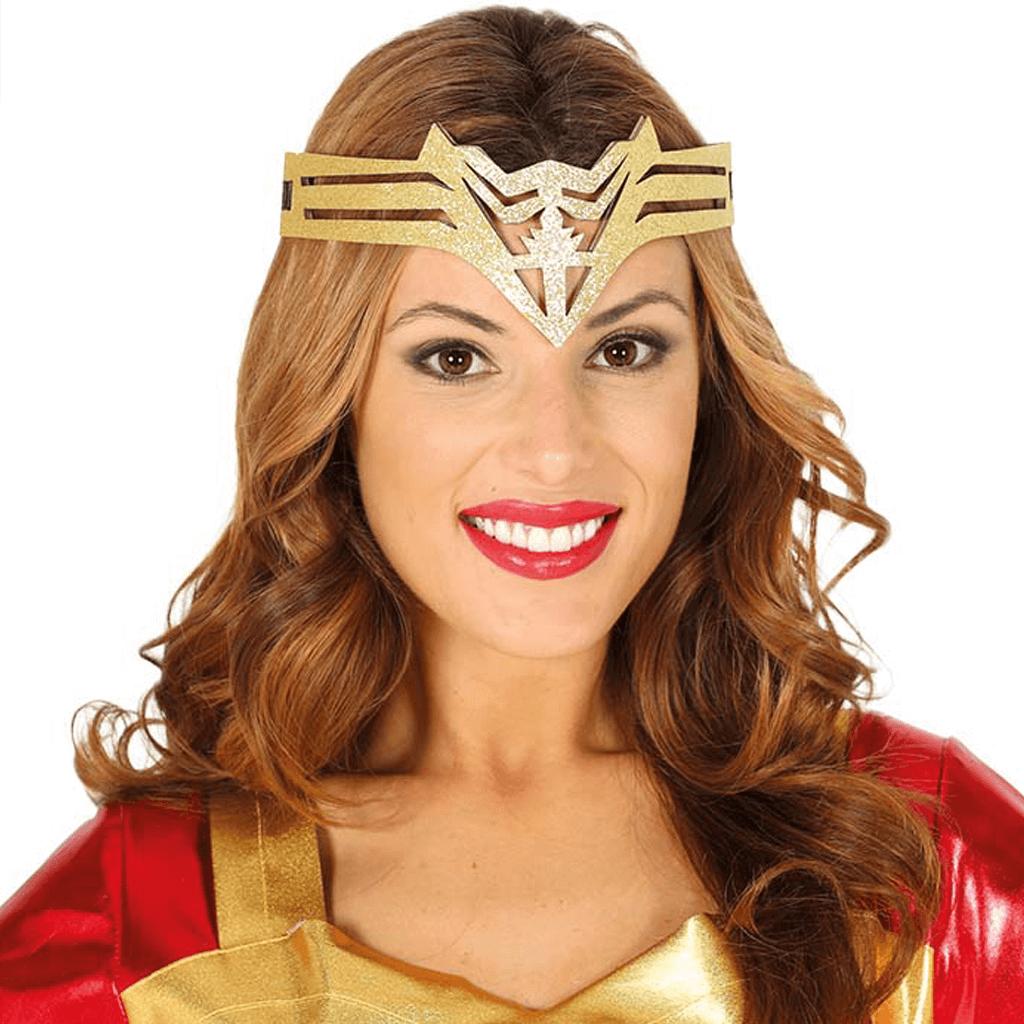 Diadema Super Heroína Dourado