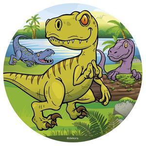 Disco Comestível Dinossauros, 16 cm