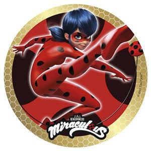 Disco Comestível LadyBug, 20 cm