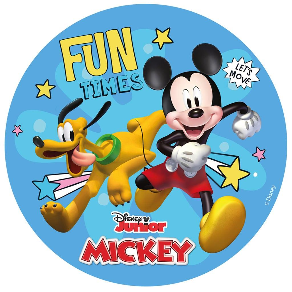 Disco Comestível Mickey, 16 cm