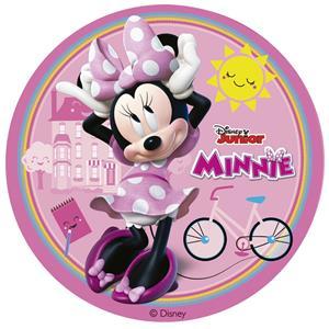 Disco Comestível Minnie, 16 cm