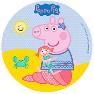 Disco Comestível Peppa Pig, 16 cm