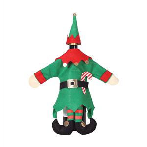Elfo Natalício Decoração de Garrafa
