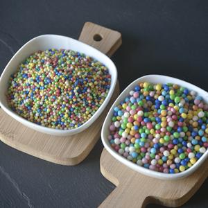 Esferas Crocantes Coloridas, 2 mm, 250 Gr.