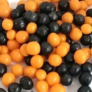 Esferas Mix Preto e Laranja, 45 gr