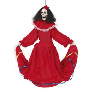 Esqueleto Dia dos Mortos com Luz, Som e Movimento, 80 Cm