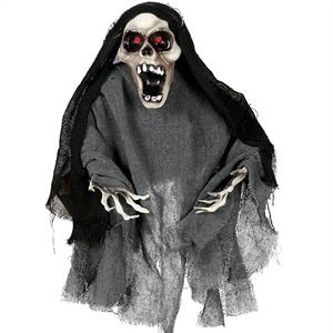 Esqueleto Gritante com Luz, Movimento e Som, 60 cm