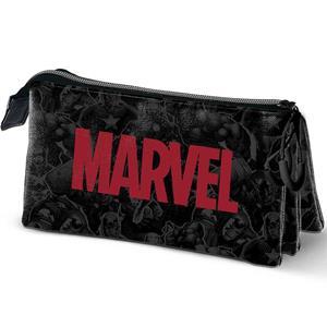 Estojo Escolar Triplo Marvel Logo
