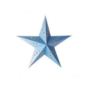 Estrela Natal Azul em Cartão, 30cm