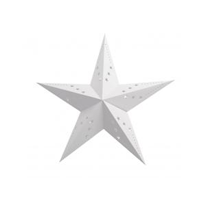 Estrela Natal Branca em Cartão, 30cm