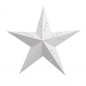 Estrela Natal Branca em Cartão, 60cm