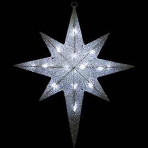 Estrela Cadente Malha Luminosa Leds Branco Frio, 65 Cm