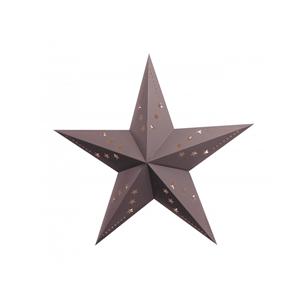 Estrela Natal Cinzenta em Cartão, 30cm