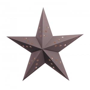Estrela Cinzenta em Cartão, 60cm