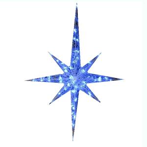 Estrela com Pontas Led Azul