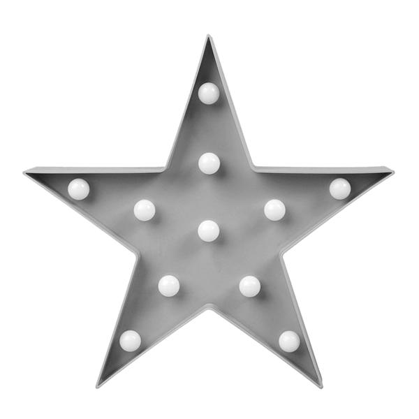 Estrela Decorativa com Luz, 26 Cm
