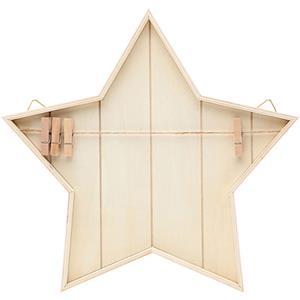 Estrela Decorativa em Madeira