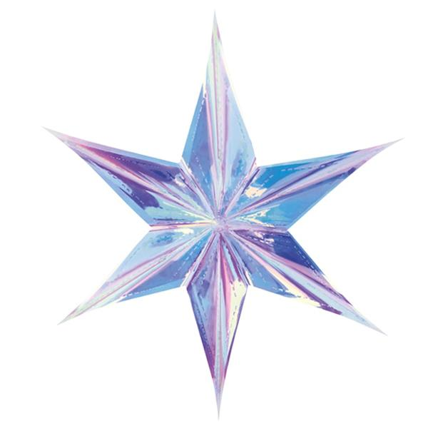 Estrela Decorativa Iridescente, 40 cm