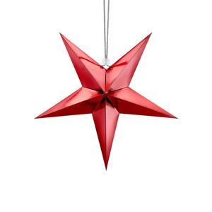 Estrela Decorativa Vermelha, 30 cm