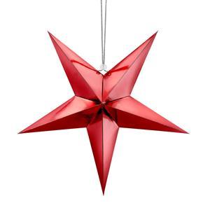 Estrela Decorativa Vermelha, 45 cm