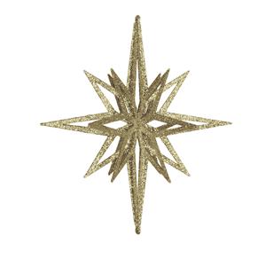 Estrela Dourada Brilhante com Purpurinas, 30 Cm